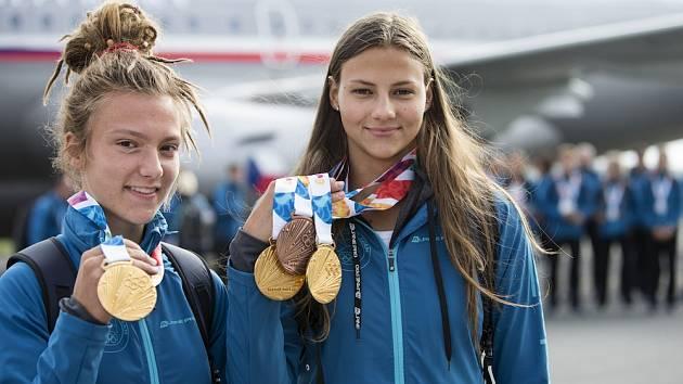 Čtvrtkařka Barbora Malíková a plavkyně Barbora Seemanová