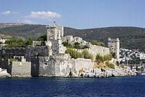 Johanitský Hrad svatého Petra ze třináctého století v tureckém Bodrumu.