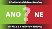 Předvolební debata Deníku s pražskými lídry na letišti – otázka Wi-Fi v lanovce