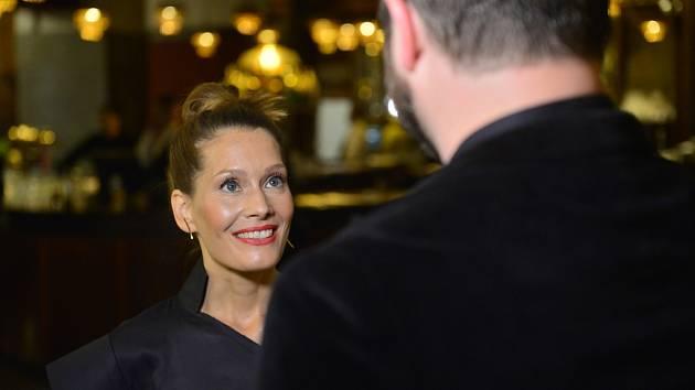 Barbora Seidlová na premiéře filmu Havel