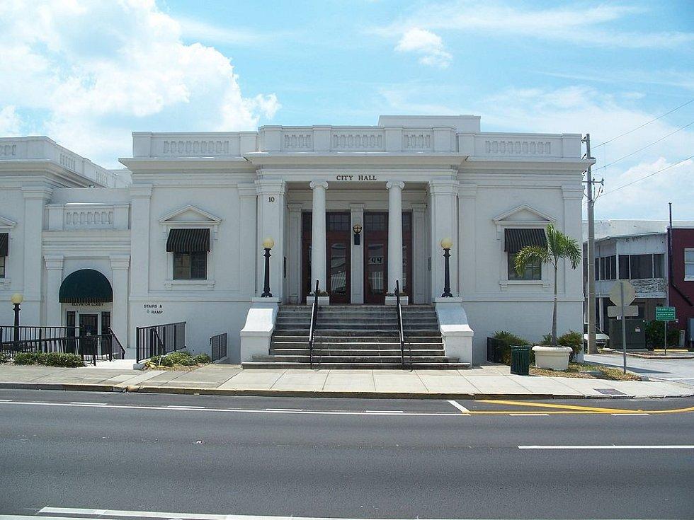 Radnice města Eustis, v němž Ferrell vraždil