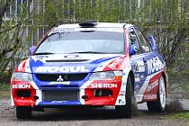 Roman Kresta s vozem Mitsubishi Lancer EVO IX ovládl 43. ročník Mogul Šumava Rallye Klatovy.