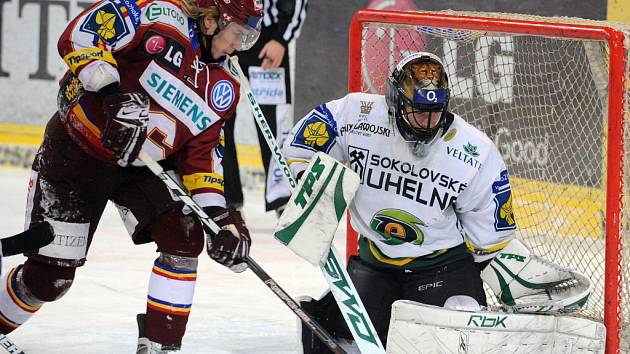 Sparta prohrála v dohrávce 37. kola hokejové extraligy s Karlovými Vary 2:4.