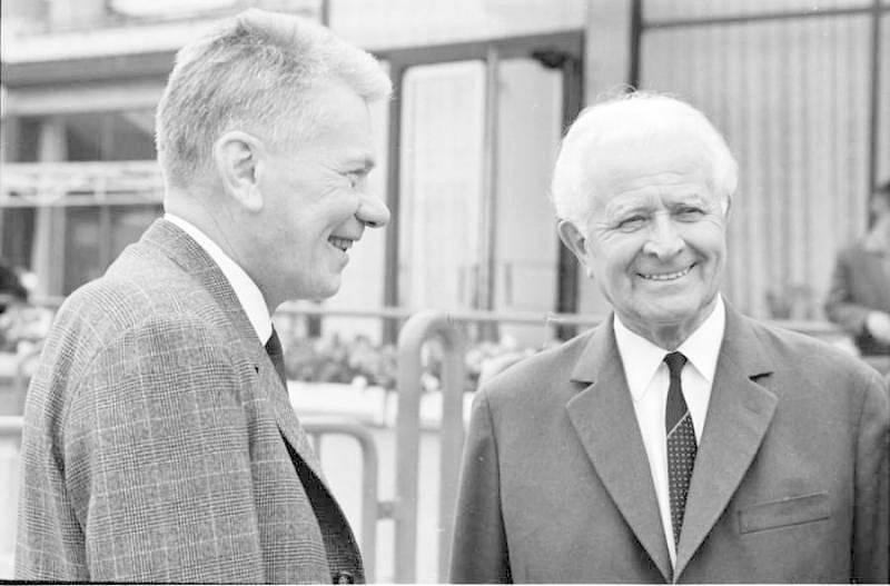 Josef Smrkovský a Ludvík Svoboda