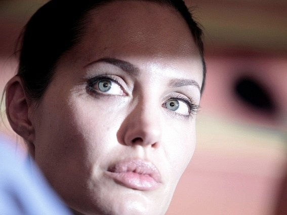 Herečka Angelina Jolieová