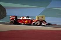 Sebastian Vettel v kvalifikaci na Velkou cenu Bahrajnu.