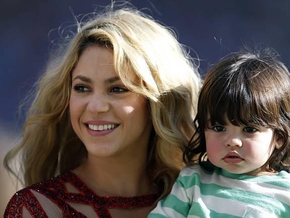 Zpěvačka Shakira se synem.