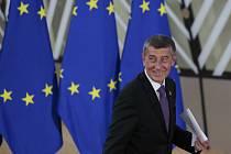 Český premiér Andrej Babiš na mimořádném summitu Evropské unie v Bruselu