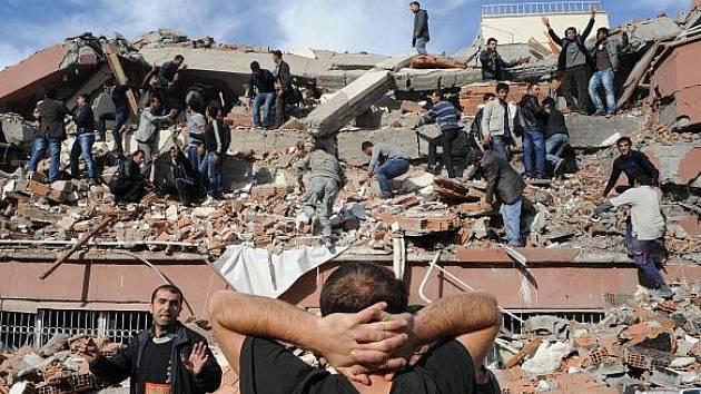 Zemětřesení v Turecku.