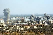 Letecký útok v Sýrii.