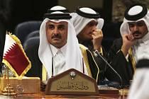 Katarský emír Tamím ibn Hamad Al Sání