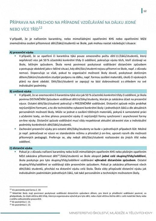 Manuál pro výuku na školách v době koronaviru - strana 12