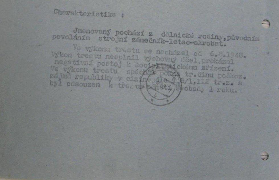 Komunistický posudek na Mila Komínka
