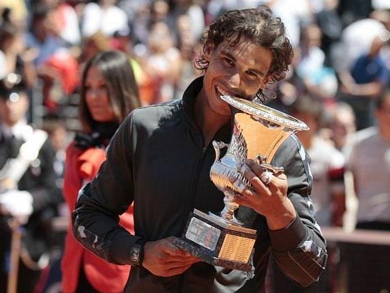 Rafael Nadal triumfoval v Římě.
