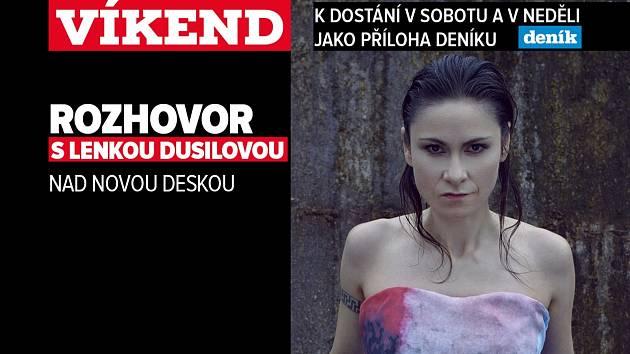 Rozhovor s Lenkou Dusilovou, upoutávka na magazín Víkend