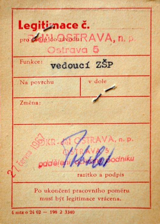 Průkaz Miroslava Lápky