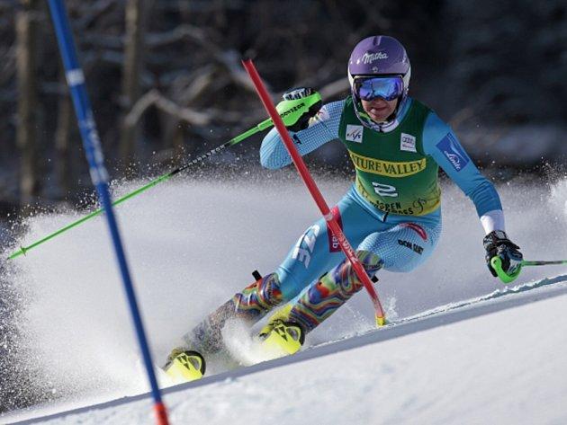 Šárka Strachová skončila ve slalomu SP v Aspenu čtvrtá.