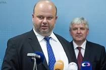 Martin Pecina a Jiří Rusnok (vpravo)
