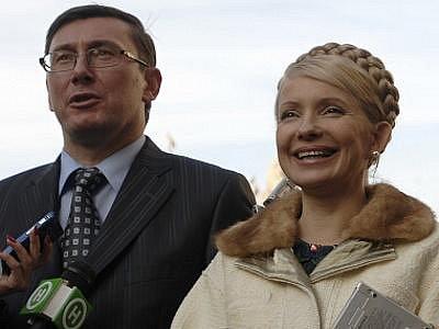 Ukrajinská expremiérka Julija Tymošenková a bývalý ministr vnitra Jurij Lucenko.