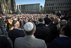 Demonstrace na podporu Židů v Berlíně