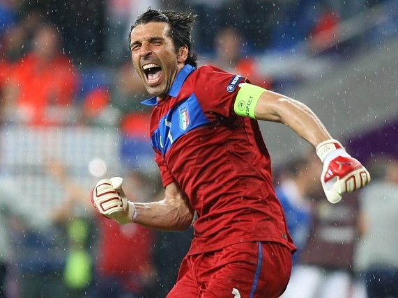 Opora italské reprezentace Gianluigi Buffon.