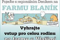 Pojeďte s regionálním Deníkem na FARMU BLANÍK.