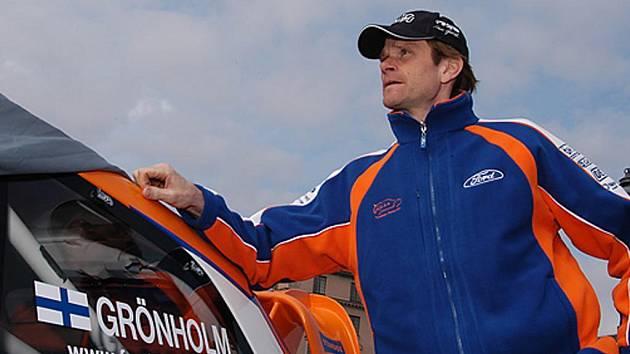 Marcus Grönholm během oficiálního představení týmu.