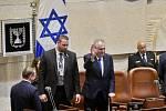 Miloš Zeman při projevu v izraelském parlamentu- Knesetu.