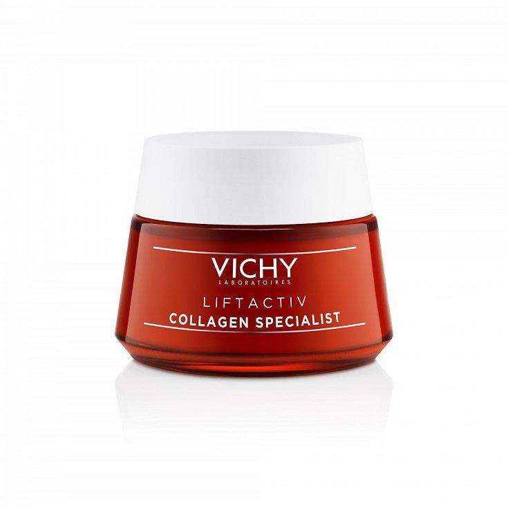 IDEÁLNÍ pro ženy 40+ je Liftactiv Collagen Specialist od Vichy. Kromě kolagenu obsahuje peptidy a vitamin C, hlavní bojovníky proti stárnutí. Krásně voní a na pokožce jen taje. Liftactiv Collagen Specialist, Vichy, 50 ml, 999 Kč