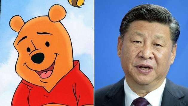 Číňané přezdívají svému prezidentovi Medvídek Pú.