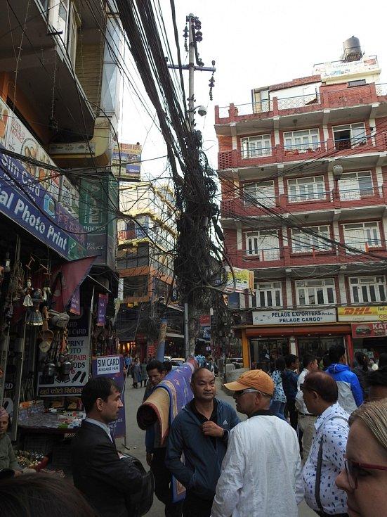 Káthmándú hlavní město Nepálu. Žije zde přibližně 1 milion obyvatel.