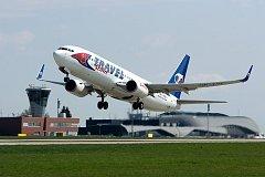 Boeing 737 v barvách Travel Service (ilustrační foto)