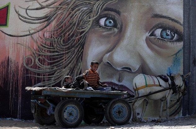 Zeď oddělující Izrael a pásmo Gazy