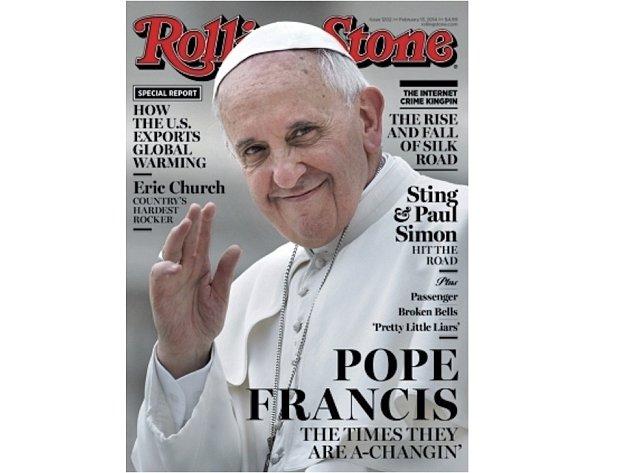 Papež František na obálce hudebního časopisu Rolling Stone.