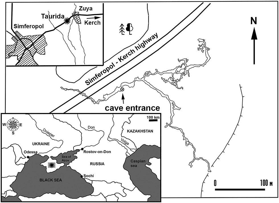 """Mapa archeologických nálezů fosílií pravěkého """"pštrosa"""""""