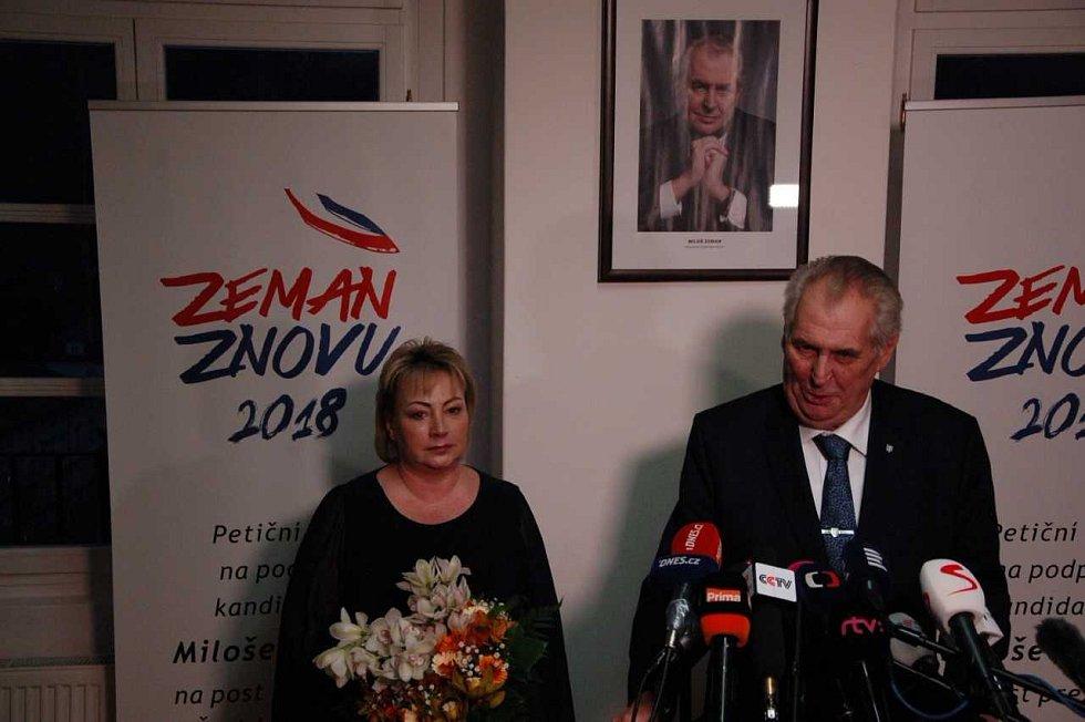 Volební štáb Miloše Zemana při prvním kole prezidentských voleb