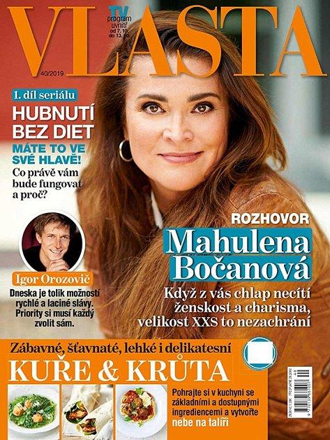 Obálka magazínu Vlasta.