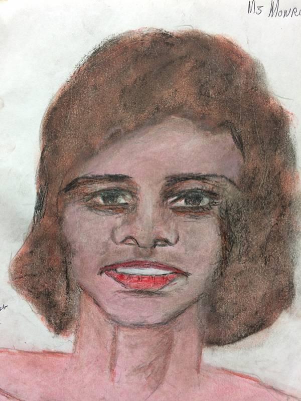 Ženy beze jména. Vrah Samuel Little pro FBI nakreslil portréty žen, které údajně zabil. Agentura zveřejnila obrázky v naději, že se jim osoby na nich podaří identifikovat. Tuto ženu Little prý zabil v roce 1982 v Louisianě.