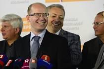 Premiér Bohuslav Sobotka (ČSSD) vnímá výsledek senátních voleb jako vítězství sociální demokracie a vládní koalice.