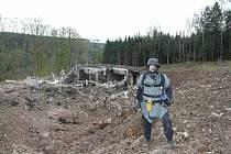 Epicentrum výbuchu ve Vrběticích