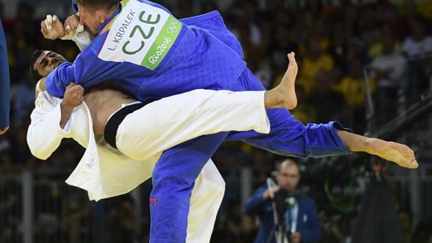 Lukáš Krpálek ve finále olympijských her v Riu porazil Elmara Gasimova.