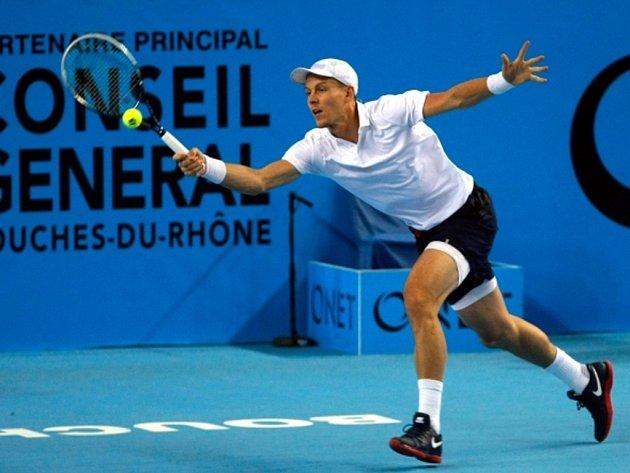 Tomáš Berdych na turnaji v Marseille.