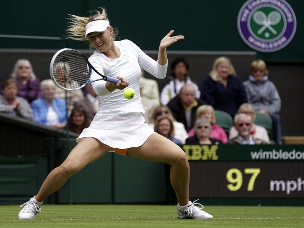 Maria Šarapovová na Wimbledonu.