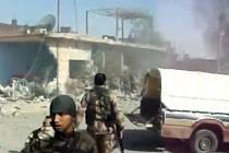 Boje na hranici Turecka se Sýrií. Ilustrační foto