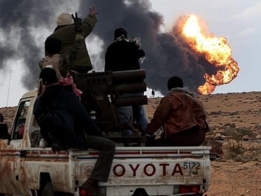 Boje v Libyi pokračují. Ilustrační foto