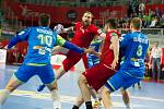 Čeští házenkáři v závěrečném duelu čtvrtfinálové skupiny ME ve Varaždínu remizovali se Slovinci 26:26.