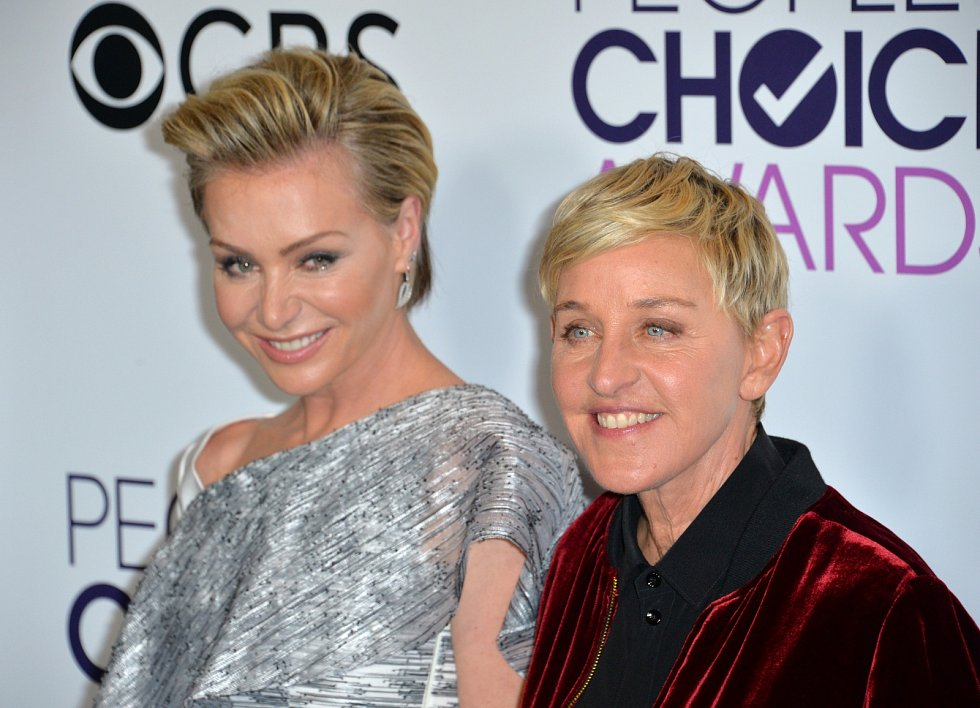 Ellen DeGeneres se svou ženou Portiou de Rossi.