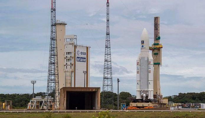 Start rakety se satelity Galileo