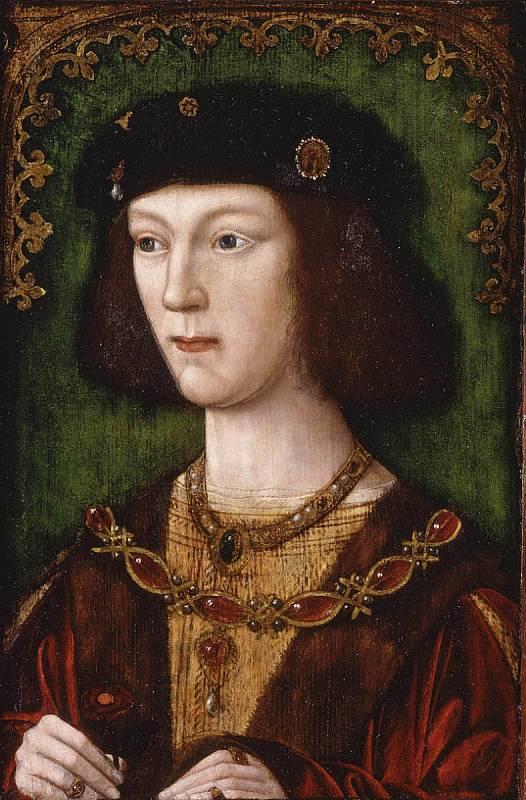 Jindřich VIII. v době, kdy se ujal vlády. Bylo mu necelých osmnáct let. V mládí byl díky vzrostlé atletické postavě považován za krasavce.