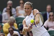 Karolína Plíšková v semifinále Wimbledonu.